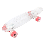 Скейтборд прозрачный PLAYSHION FS-PS002W (Белый), фото 1